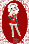 Pin-Up Mrs. Claus