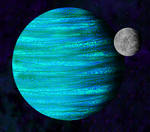 Gas Giant and Moon