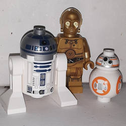 Three Lego Droid Friends by LadyIlona1984