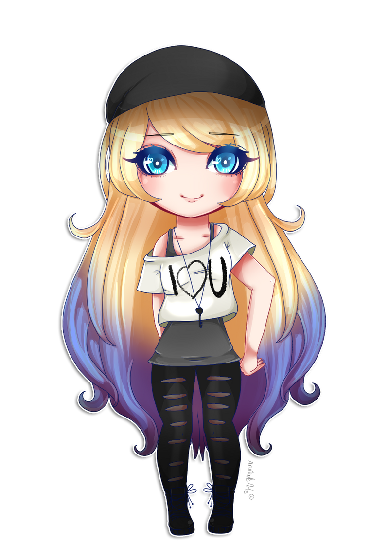 No estaba muerta, estaba de parranda (? <dibujos nuevos>  Chibi_commission_for_dannasukaira_by_aruowlsarts-d9rcc05
