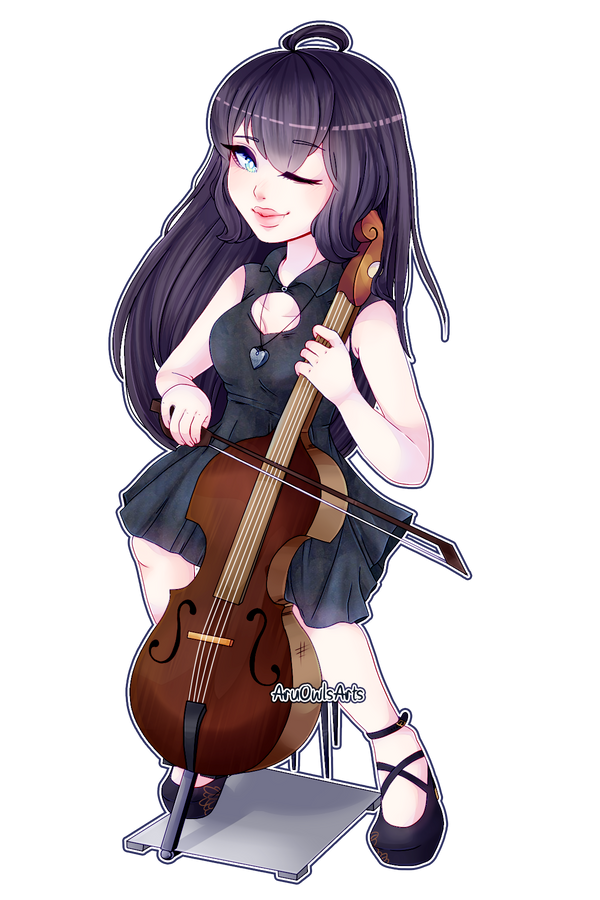 Chibi style 1 Commission for fangsxroses by AruOwlsArts