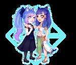 Chibi style 1 Commission Couple for kleokatra96