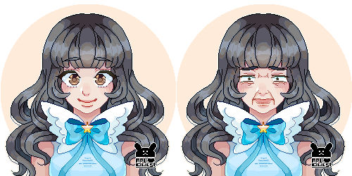 Pixel Bust commission for a Customer of Twitter