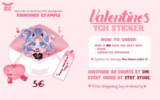 Limited Stickers YCH Valentines