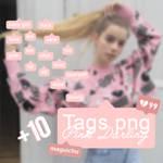 Tags +10 PNG - Pink Darling