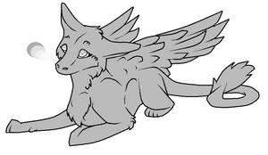 Dutch Angel Dragon Lineart