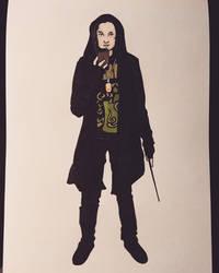 Inktober 25 - Modern Witch (ish)