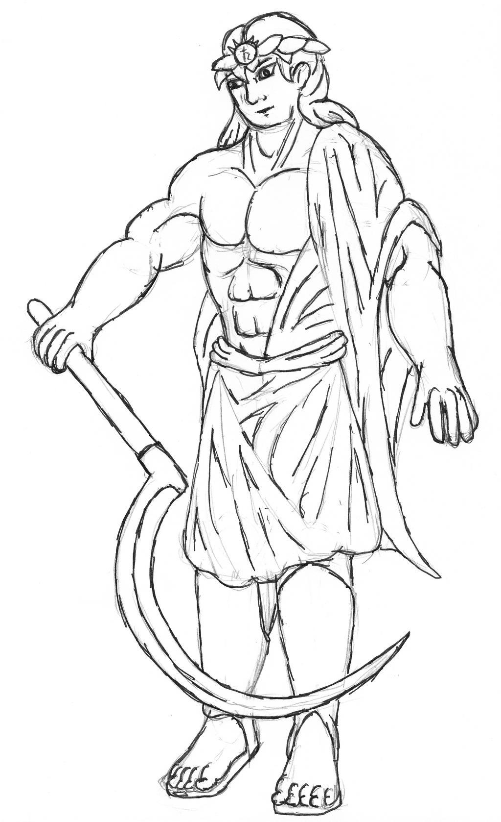 Alternate Demon Sketch  Kronos By Bhurloka12