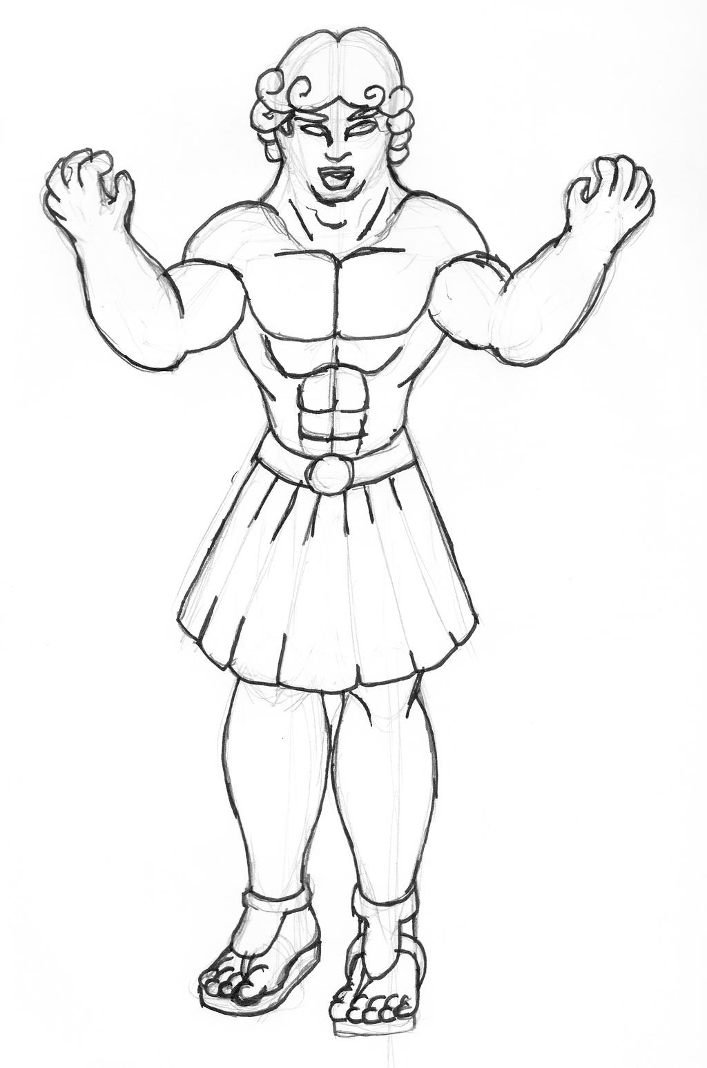 Alternate Demon Sketch - Atlas by Bhurloka12
