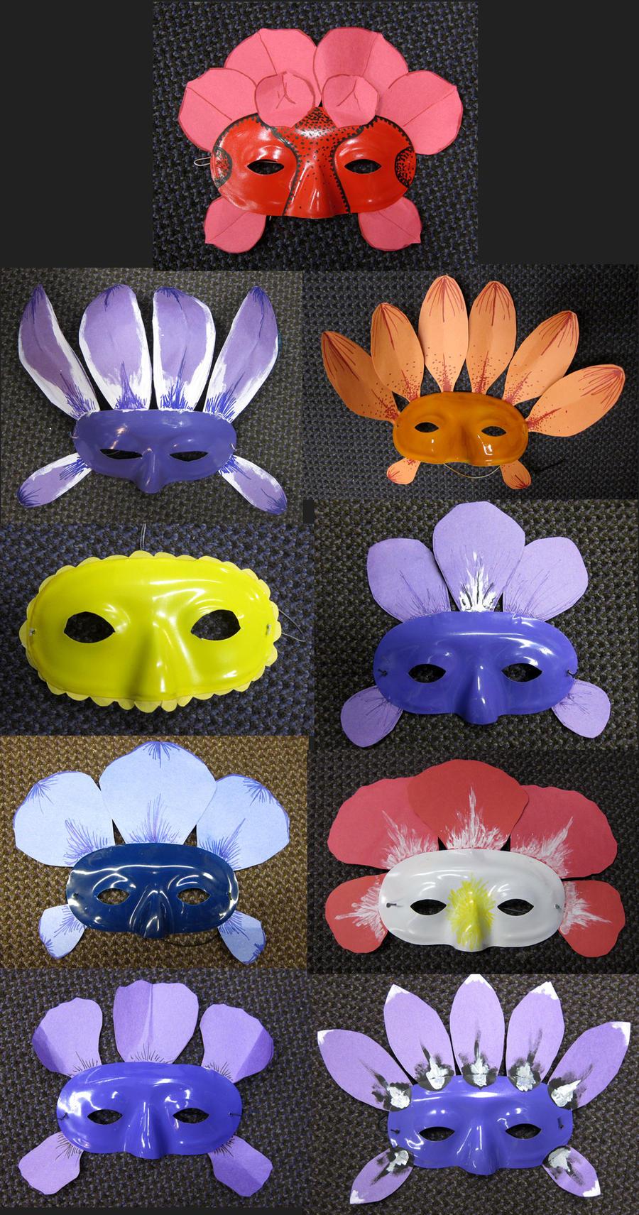 Alice in wonderland flower masks by thenaryrazberry on for Alice in wonderland crafts