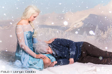 The snow glows white on the mountain tonight by elyoncosplay