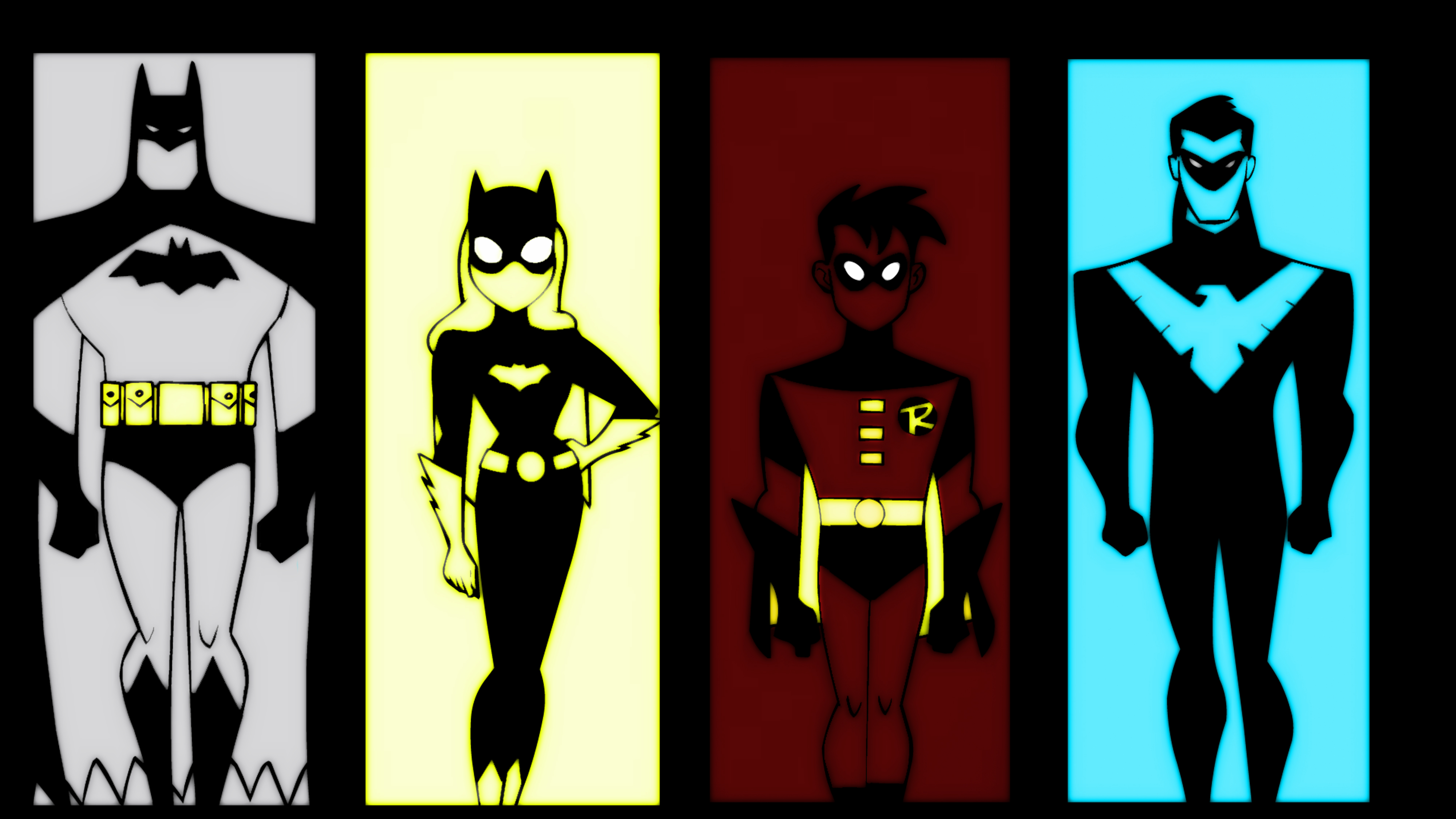 DCAM The New Batman Adventures Batman Family Glow By