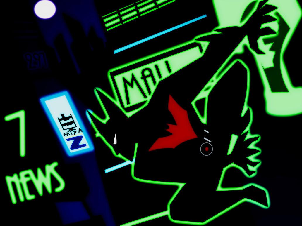 Batman Beyond Neo Gotham glow by bat123spider