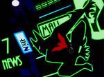 Batman Beyond Neo Gotham glow