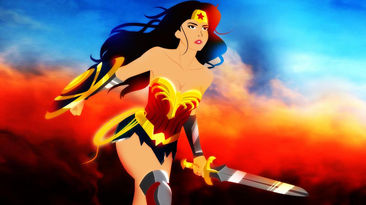 Wonder Woman 2017 Movie Animated  style by bat123spider