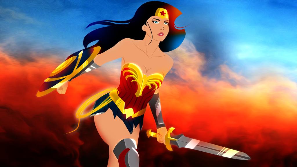Wonder Woman Background Oil2 by bat123spider