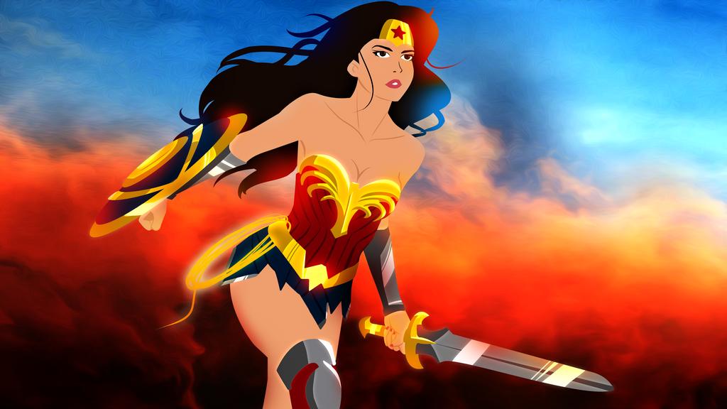 Wonder Woman Background Oil1 by bat123spider