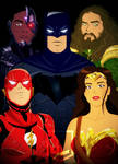 JUSTICE LEAGUE ANIMATED MOVIE POSTER by bat123spider