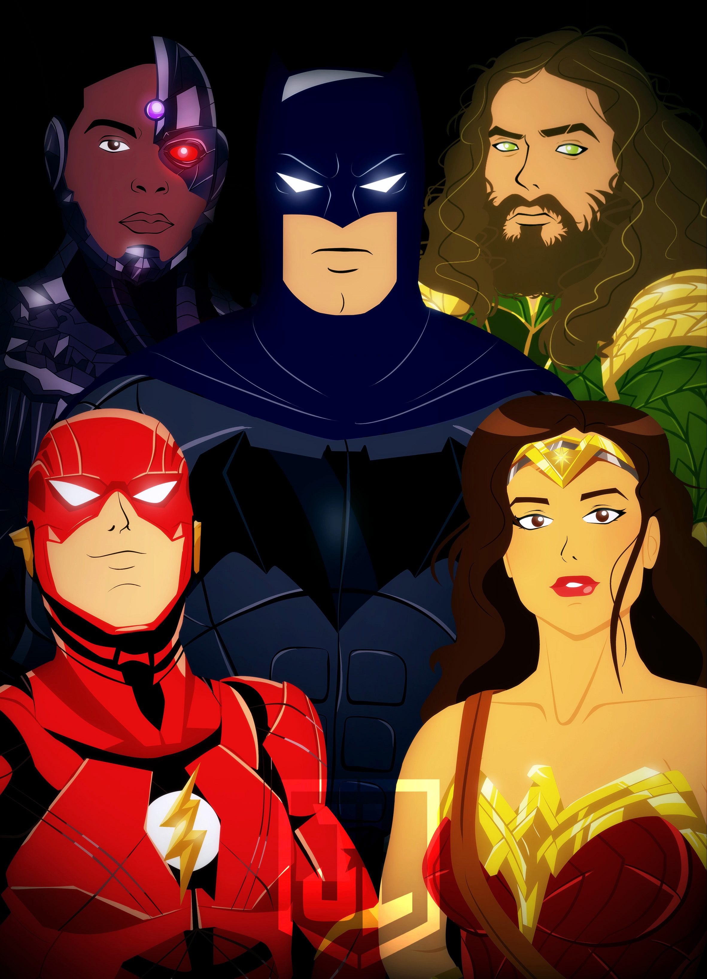 Justice League Animated Movie Poster By Bat123spider On Deviantart