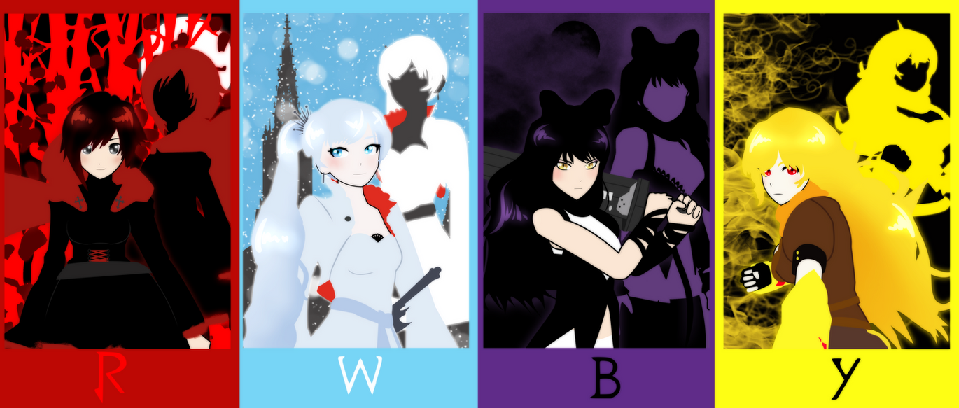 TEAM RWBY by bat123spider