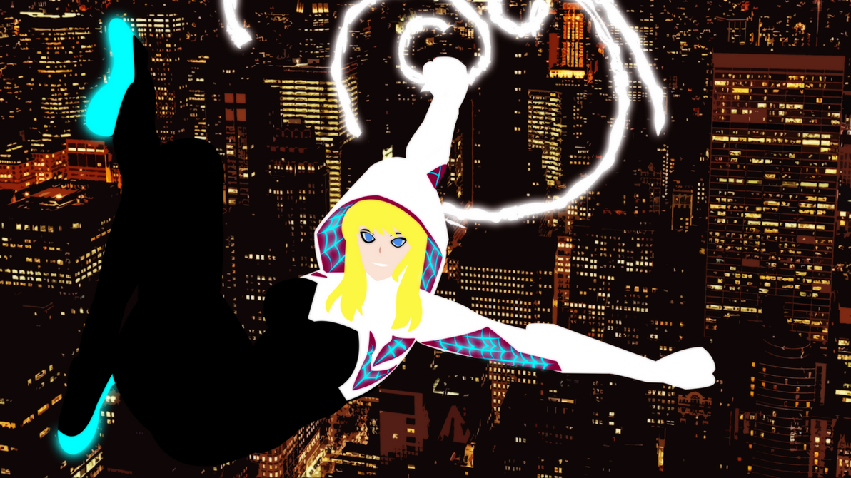 Spider-Gwen Anime by bat123spider