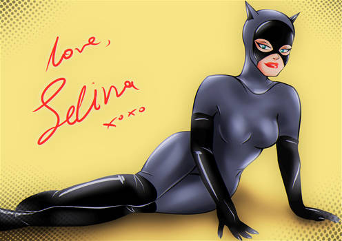 Catwoman BTAS: A love card to Batman by bat123spider