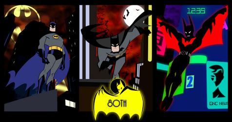 BATMAN 80th anniversary animated tribute by bat123spider