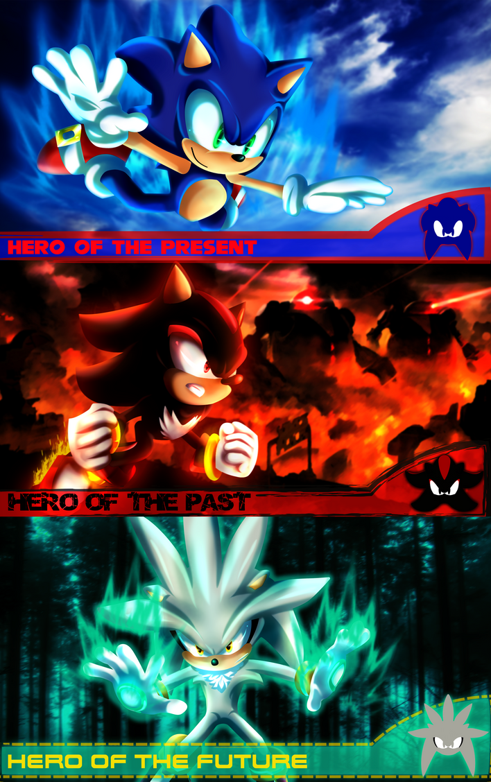 Sonic,Shadow and Silver