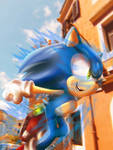 Sonic: Escape From The City by bat123spider