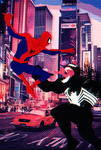 Spider-man vs Venom Into The Spider Verse