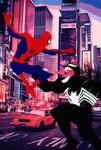 Spider-man vs Venom Into The Spider Verse by bat123spider