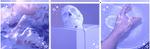 f2u purple aesthetic divider by polishboyy