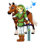 OoT: Adult Link  Epona and Navi