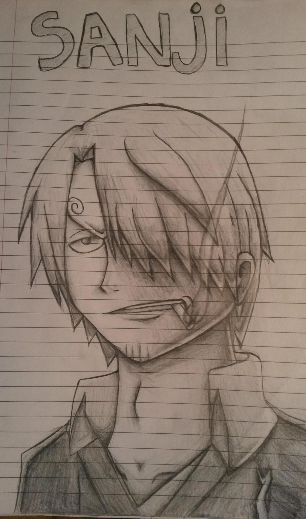 One Piece Sanji Sketch By Shadowwhisper446 On Deviantart