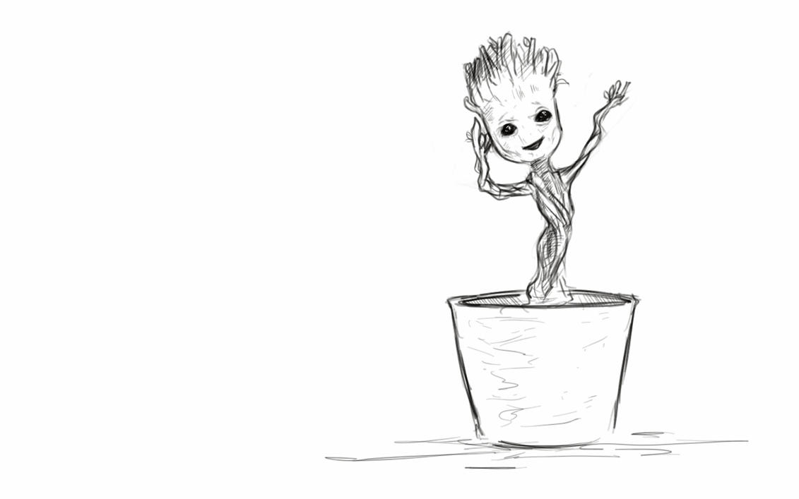 I am groot by shinji97 on deviantart for Groot coloring pages