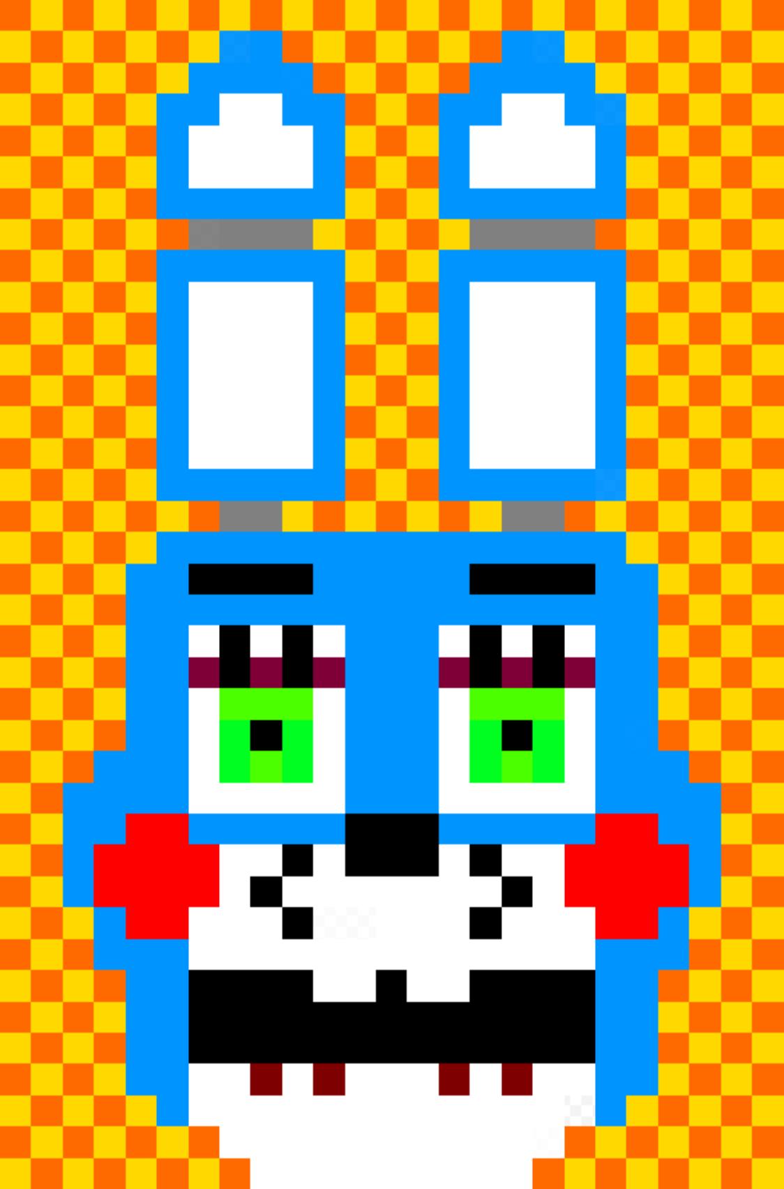 Toy Bonnie Head Pixel Art By Dimensionalskull On Deviantart