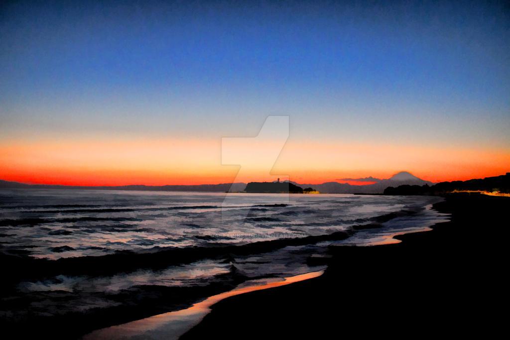 Enoshima and Fuji by CaptainNerd