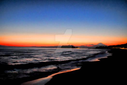 Enoshima and Fuji