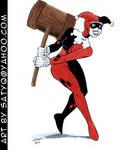 Harley Quinn Batman the Animated Series look color