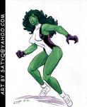 Sensational She-Hulk color art