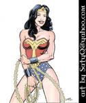 Bronze Age era Wonder Woman playing with lasso
