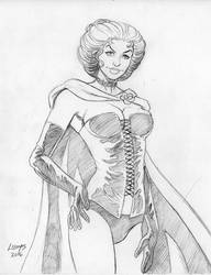 Jean Grey as Black Queen of the Hellfire Club by SatyQ
