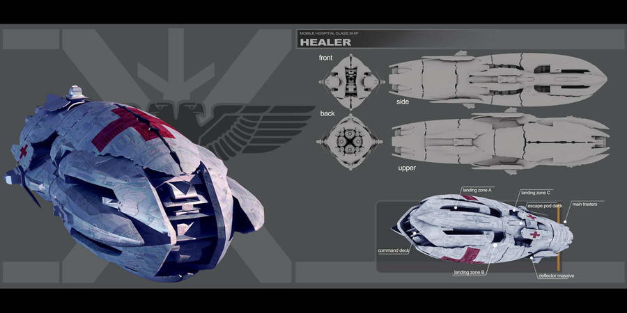 Healer - hospital ship by HPashkov