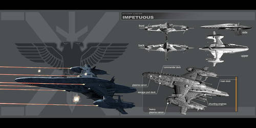 IMPETUOUS - Strike battleship by HPashkov