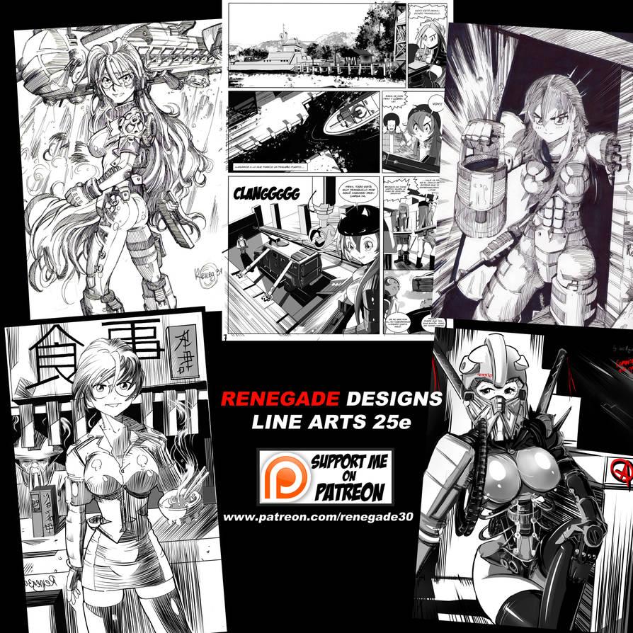Anuncio De Line Art by Reneg30
