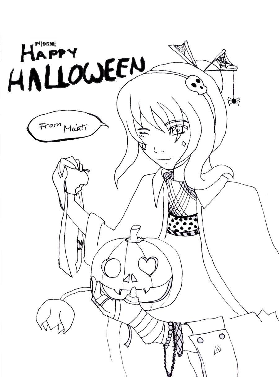 Line Art Halloween : Happy halloween line art by poppit miyu on deviantart