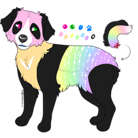 Rainbow Panda design for sale