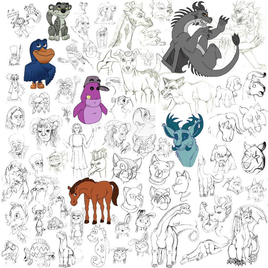 Big Random Sketch Dump by Artygal