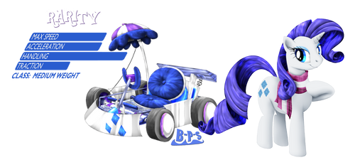 PonyKart - Rarity by Blue-Paint-Sea