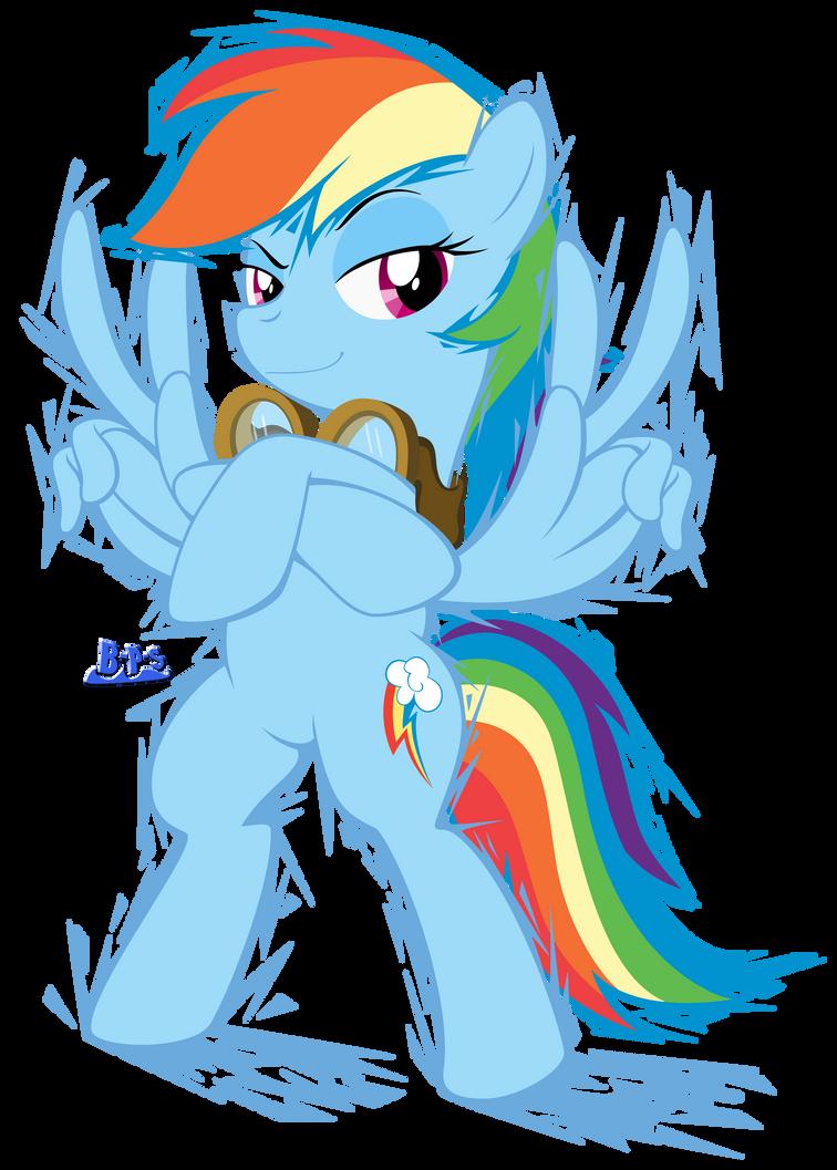 ponykart___rainbow_dash__flash_drawn__by